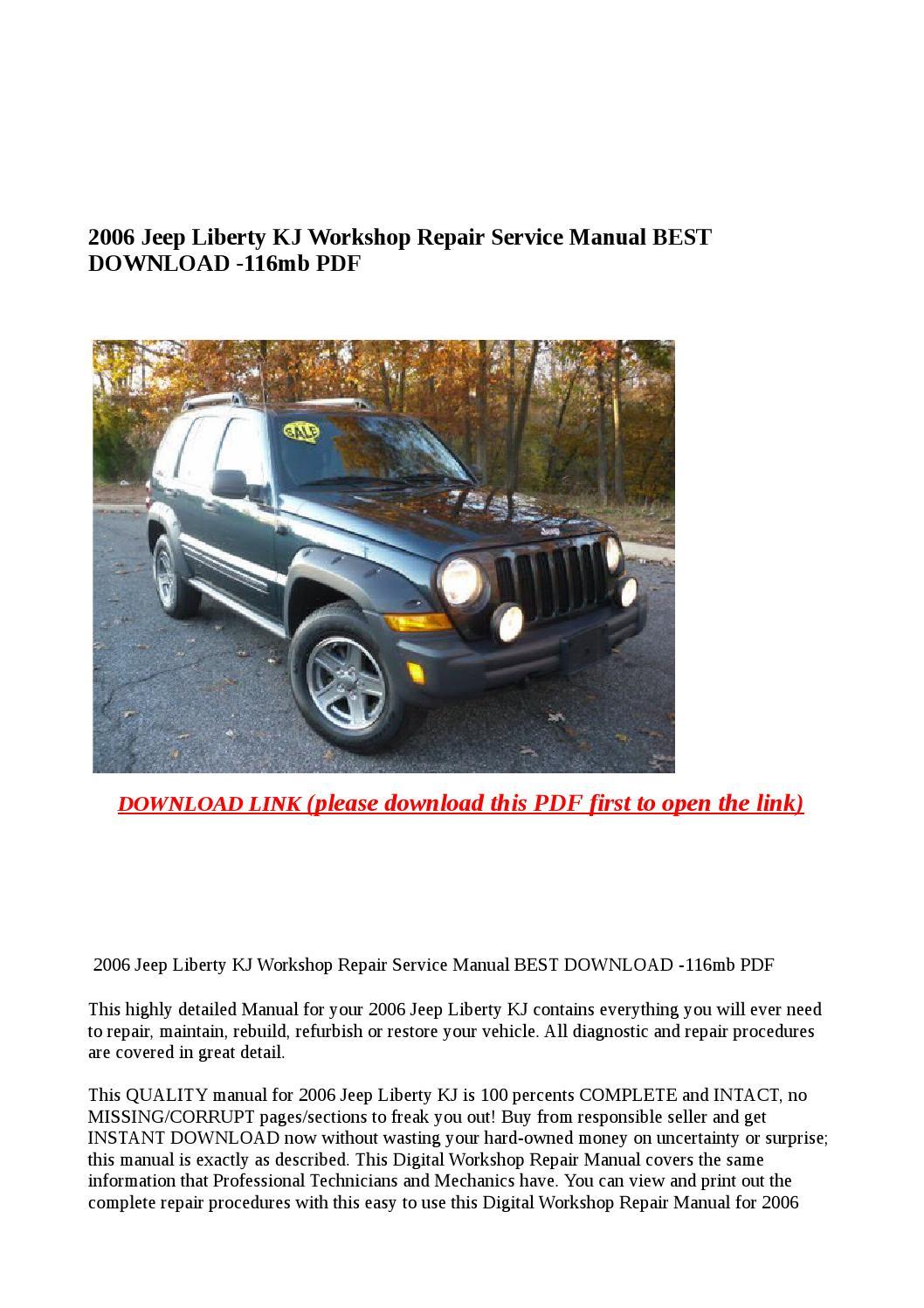 2006 jeep liberty kj workshop repair service manual best download 116mb pdf  by buhbu - issuu