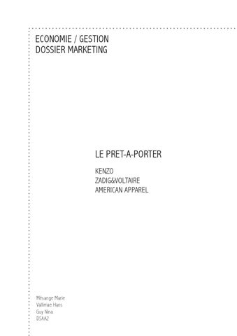 Pr tn porter by marketingdsaa issuu - Etude de marche pret a porter feminin ...