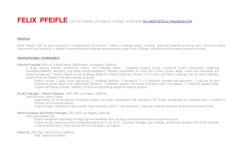 Felix Pfeifle Cv Archinect 2014 By FELIX PFEIFLE