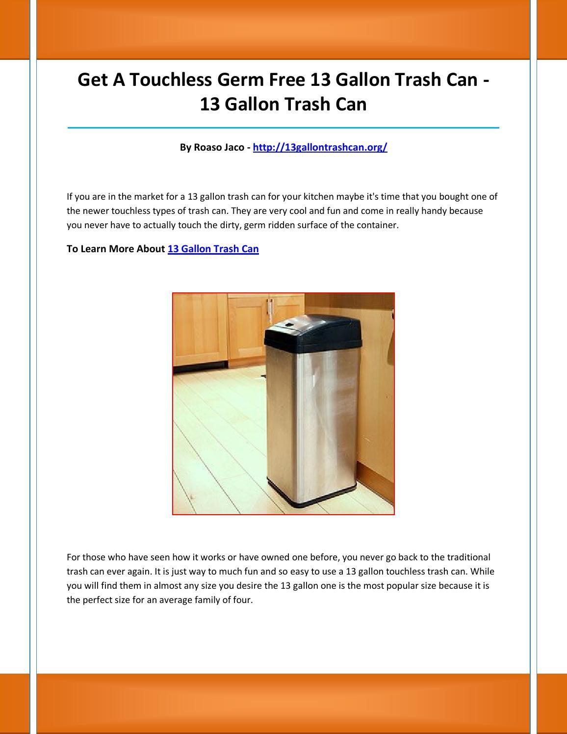 13 gallon trash can by faosdfndoe - issuu