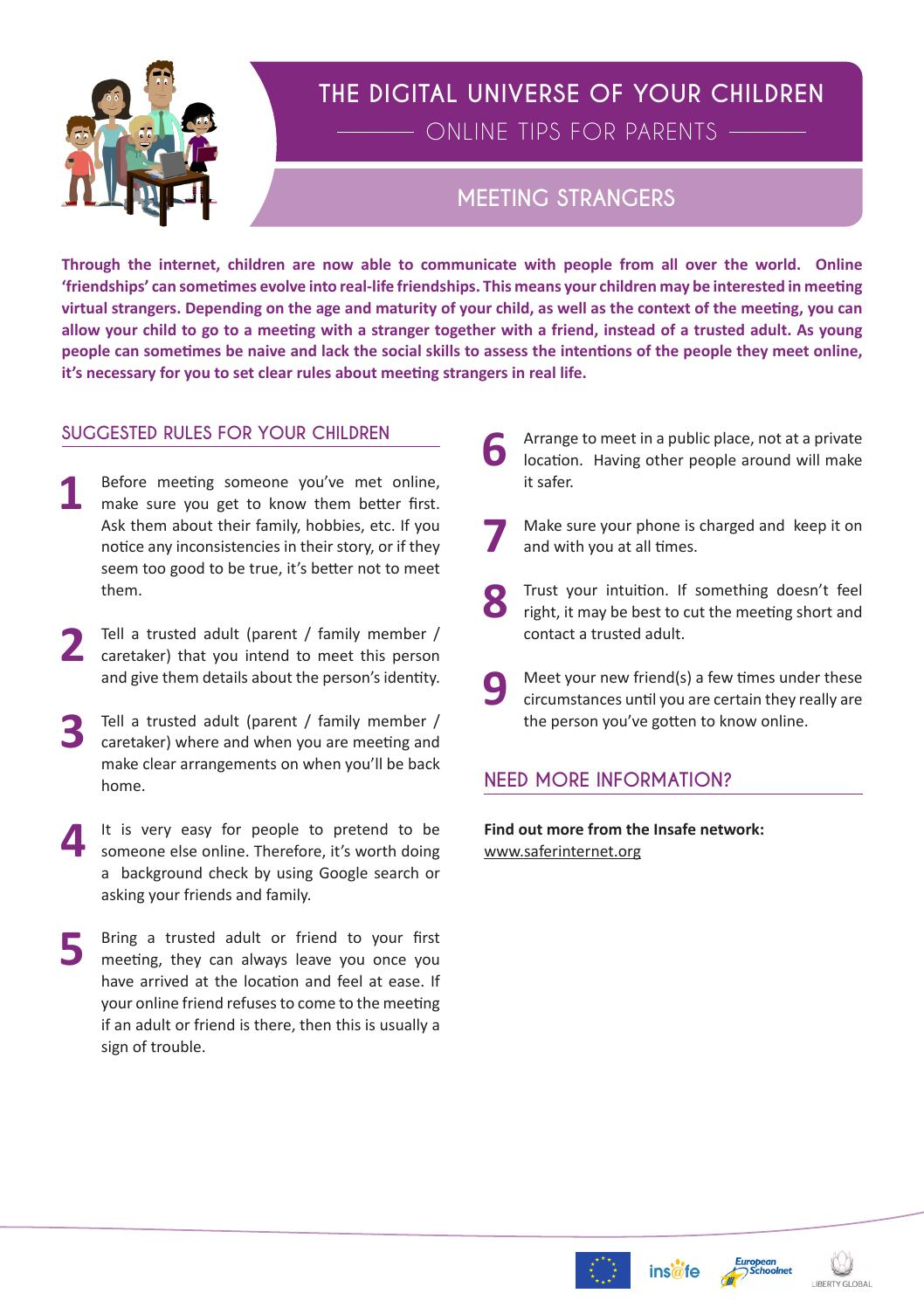 Meeting Strangers - Tips For Parents by Schudio - issuu