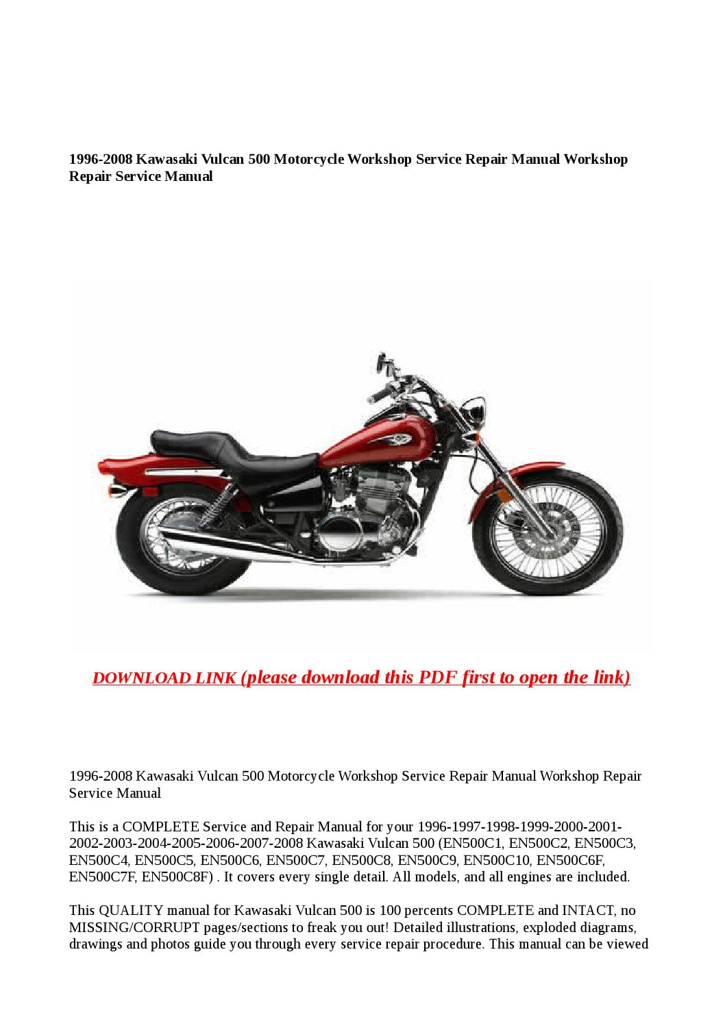 1996 2008 kawasaki vulcan 500 motorcycle workshop service repair manual  workshop repair service manu by buhbu - issuu