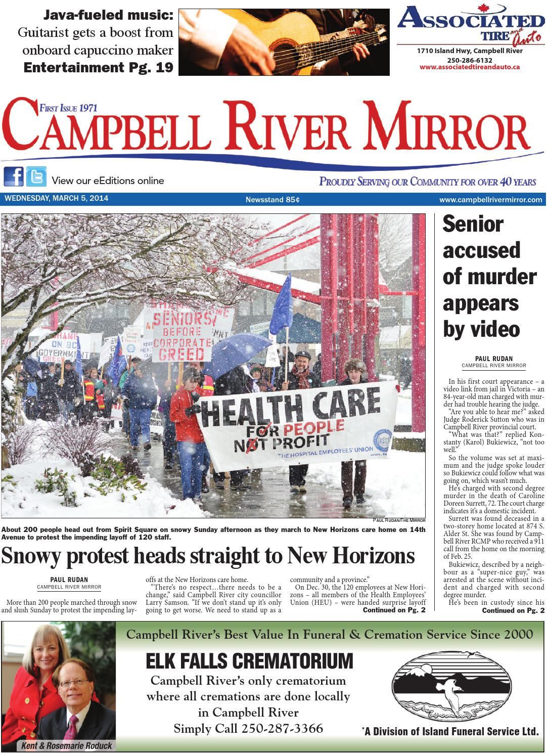 Campbell River Mirror, March 05, 2014