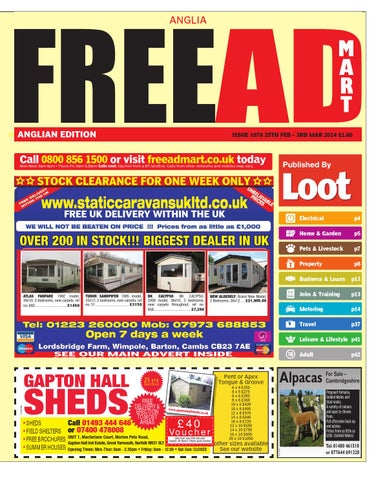 Free Ad Mart East Anglia 25th February 2014 By Loot
