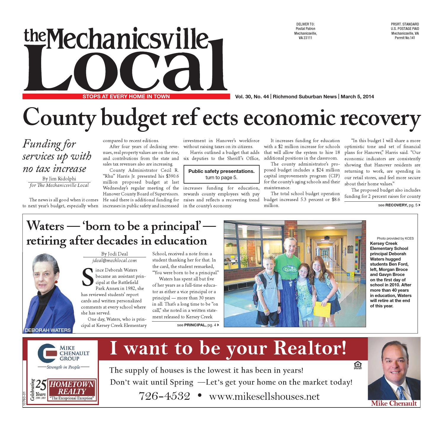 03/05/2014 by The Mechanicsville Local - issuu