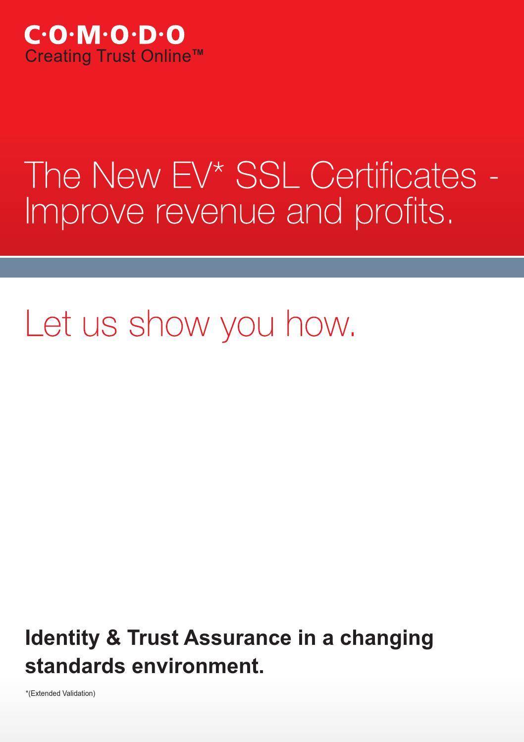 Ev ssl certificates improve revenue profits by davidjohnrace issuu xflitez Gallery