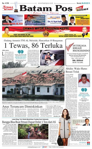 6 Maret 2014 by Batampos Newspaper - issuu 67488e528e