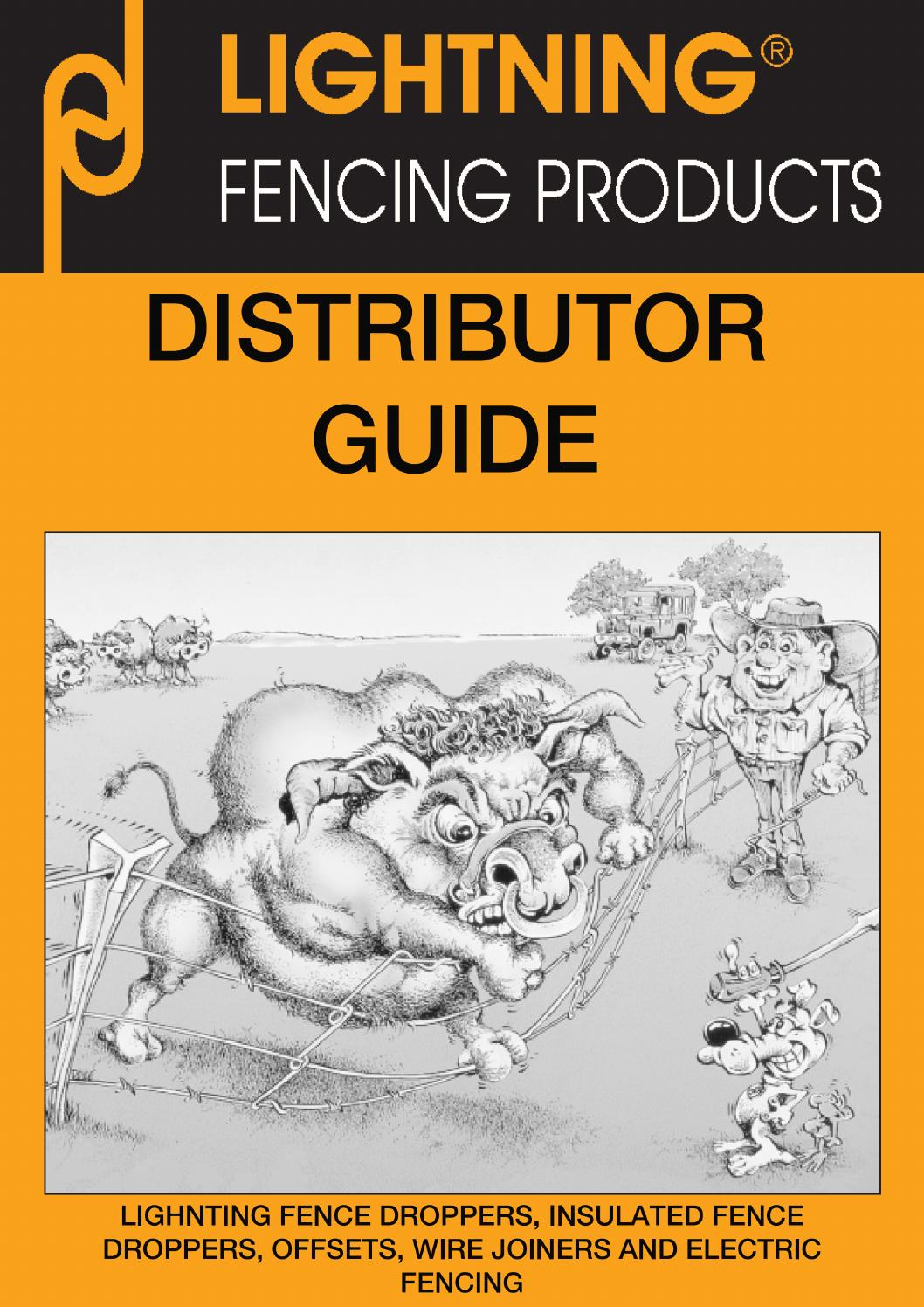 Lightning Fencing Products Distributor Guide By Lighting Fence