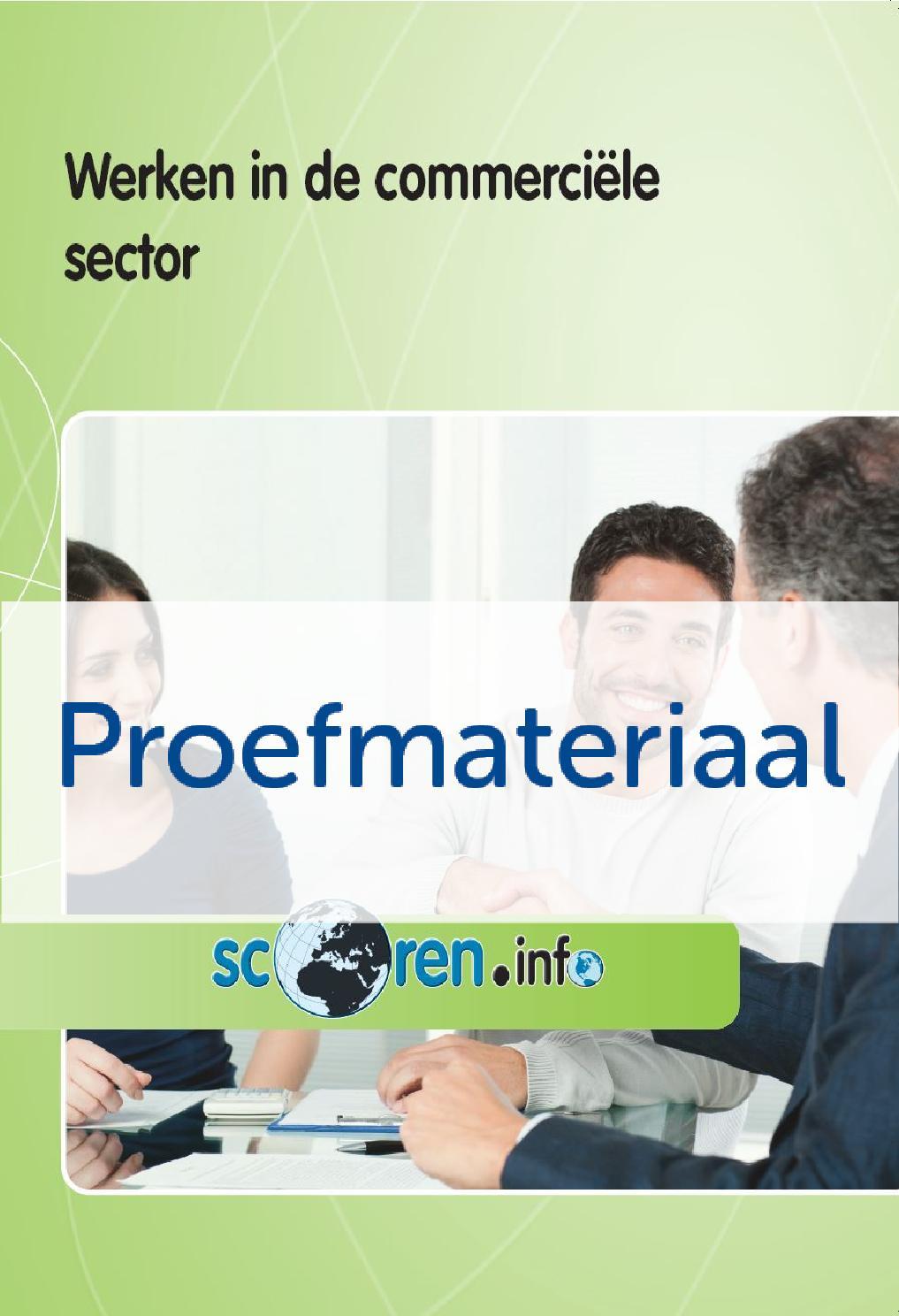 Werken in de commerciële sector proefmateriaal by Edu