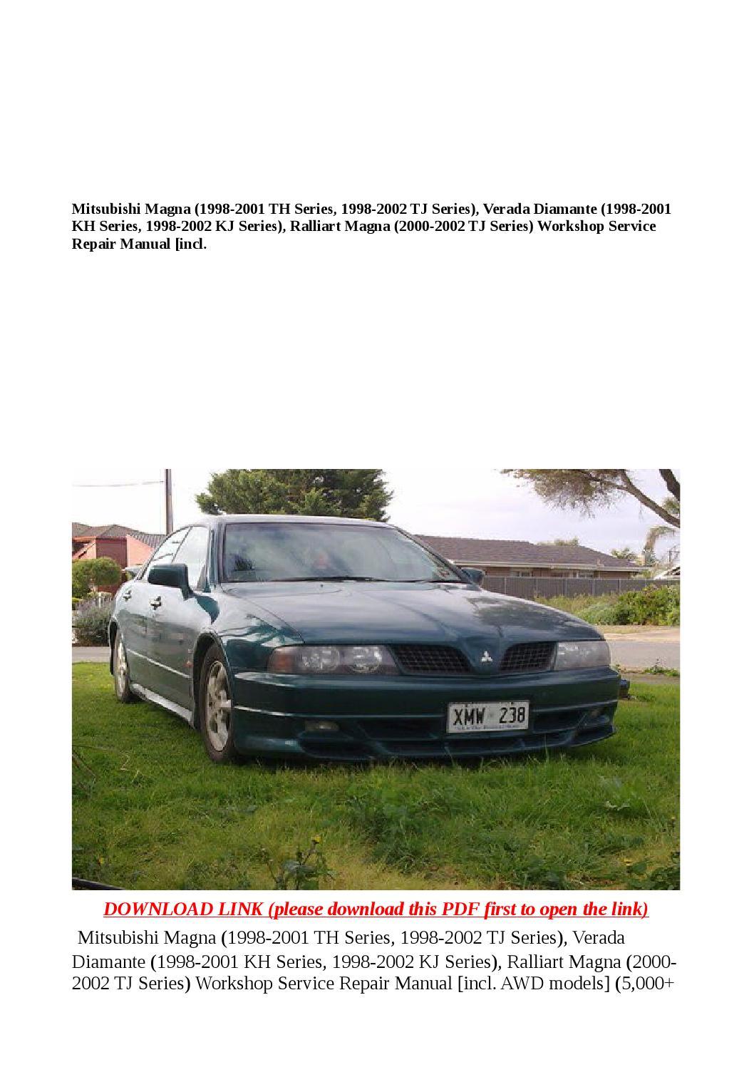 Mitsubishi magna (1998 2001 th series, 1998 2002 tj series), verada diamante  (1998 2001 kh series, 1 by buhbu - issuu