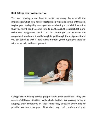 college paper writing service best