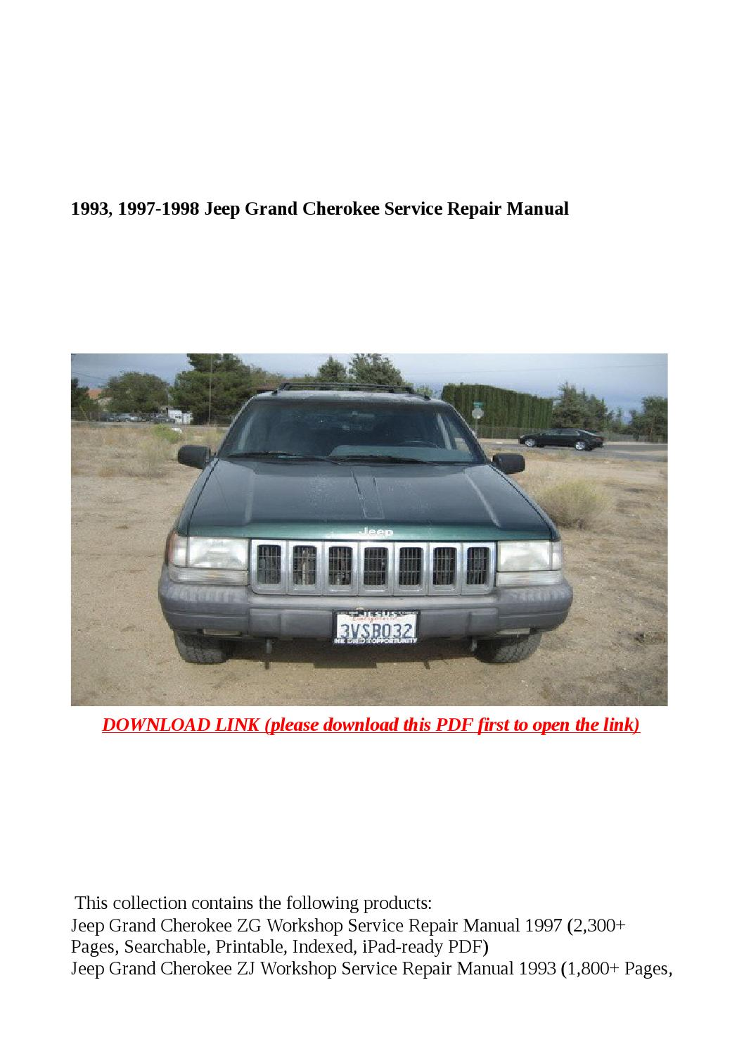 1993, 1997 1998 jeep grand cherokee service repair manual by buhbu - issuu