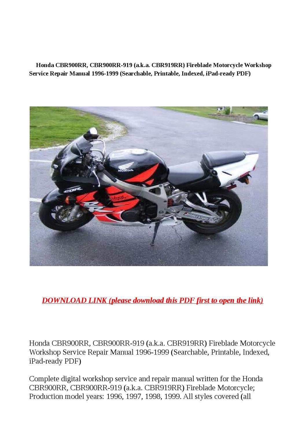 Honda Cbr900rr  Cbr900rr 919  A K A Cbr919rr  Fireblade