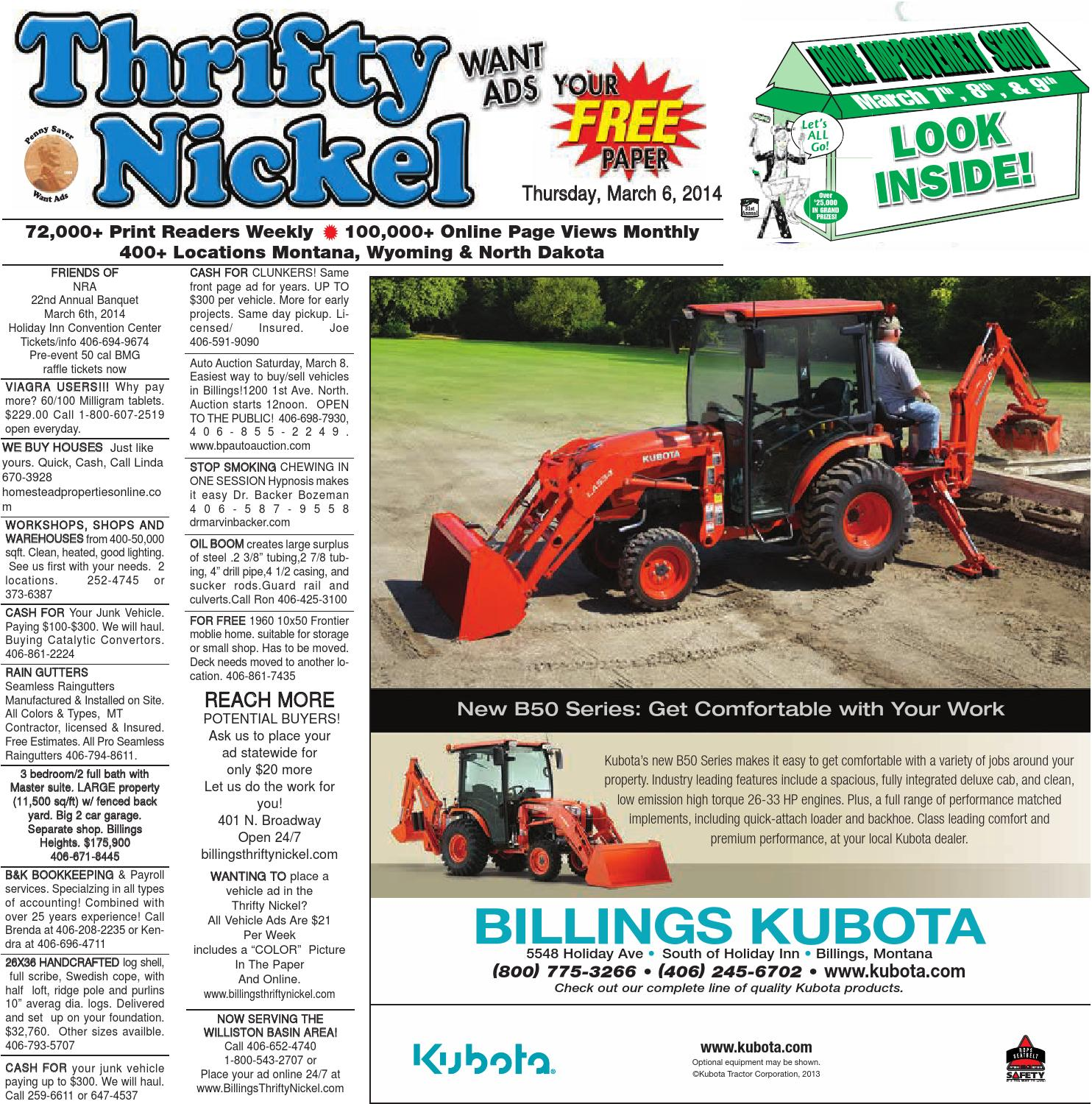 Thrifty Nickel Mar 6 By Billings Gazette Issuu Location Of Starter Relay On 95 Skylark