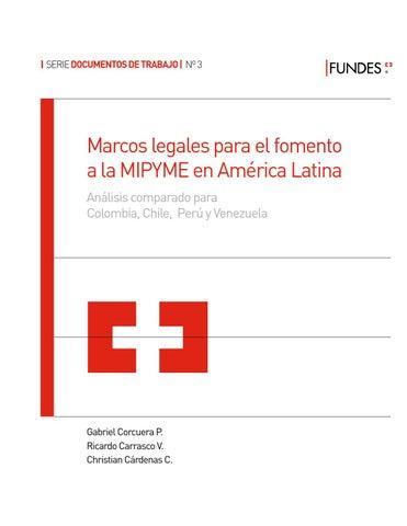 Marcos Legales Para El Fomento A La Mipyme En América Latina