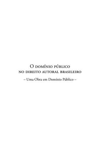 9cadbef882c O dominio publico no direito autoral brasileiro by Centro de ...