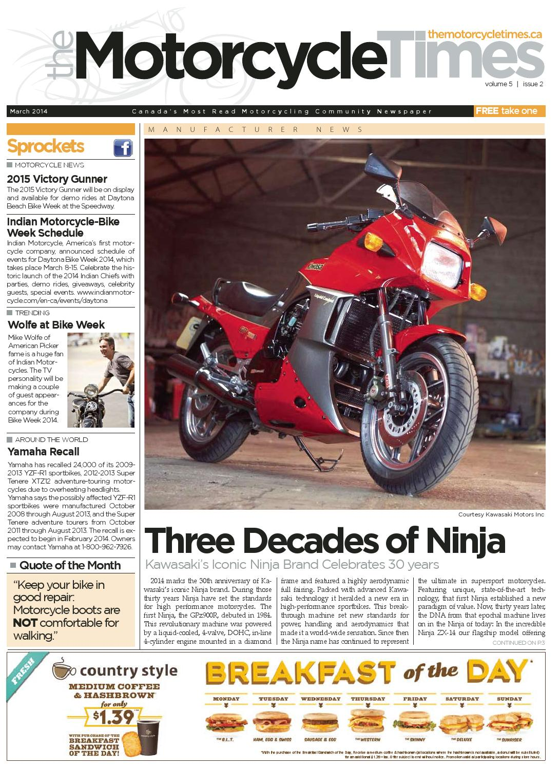 Surplus Of Synapses May Stunt Motor >> The Motorcycle Times March 2014 By The Motorcycle Times Issuu