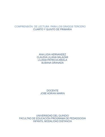 Comprensión de lectura para los grados tercero (1) by susana granada ...
