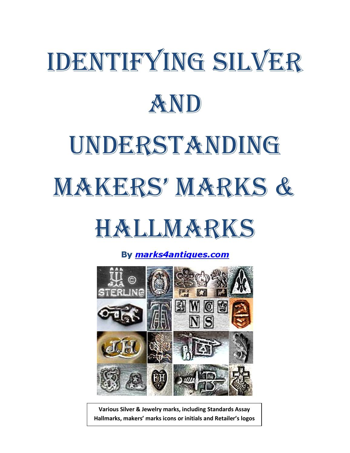 Identifying silver and recognizing makers marks & hallmarks