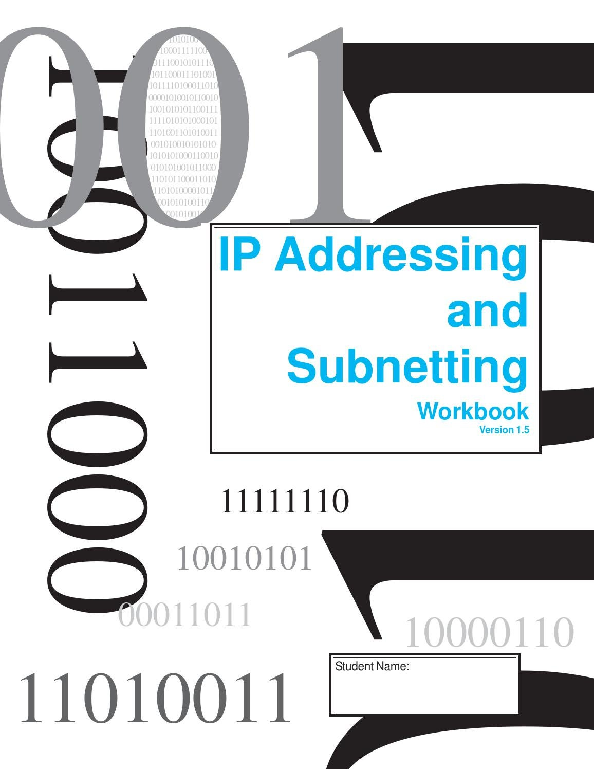 Ip And Subneeting Student Workbook Version 1 5 By Marcial Lapp Issuu