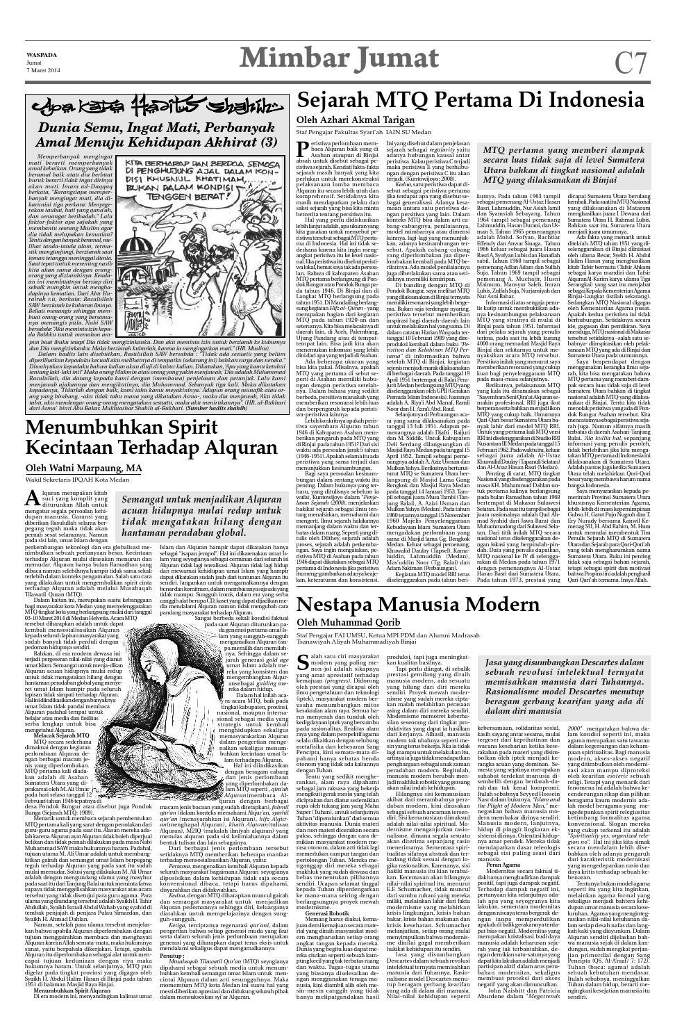 Waspada, jumat 7 maret 2014 by Harian Waspada - issuu