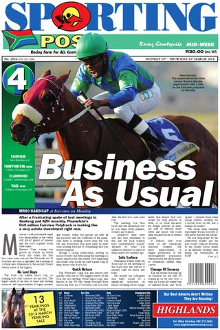 8f2900cad9e 10-13 March  2024 Sporting Post by Sporting Post - issuu