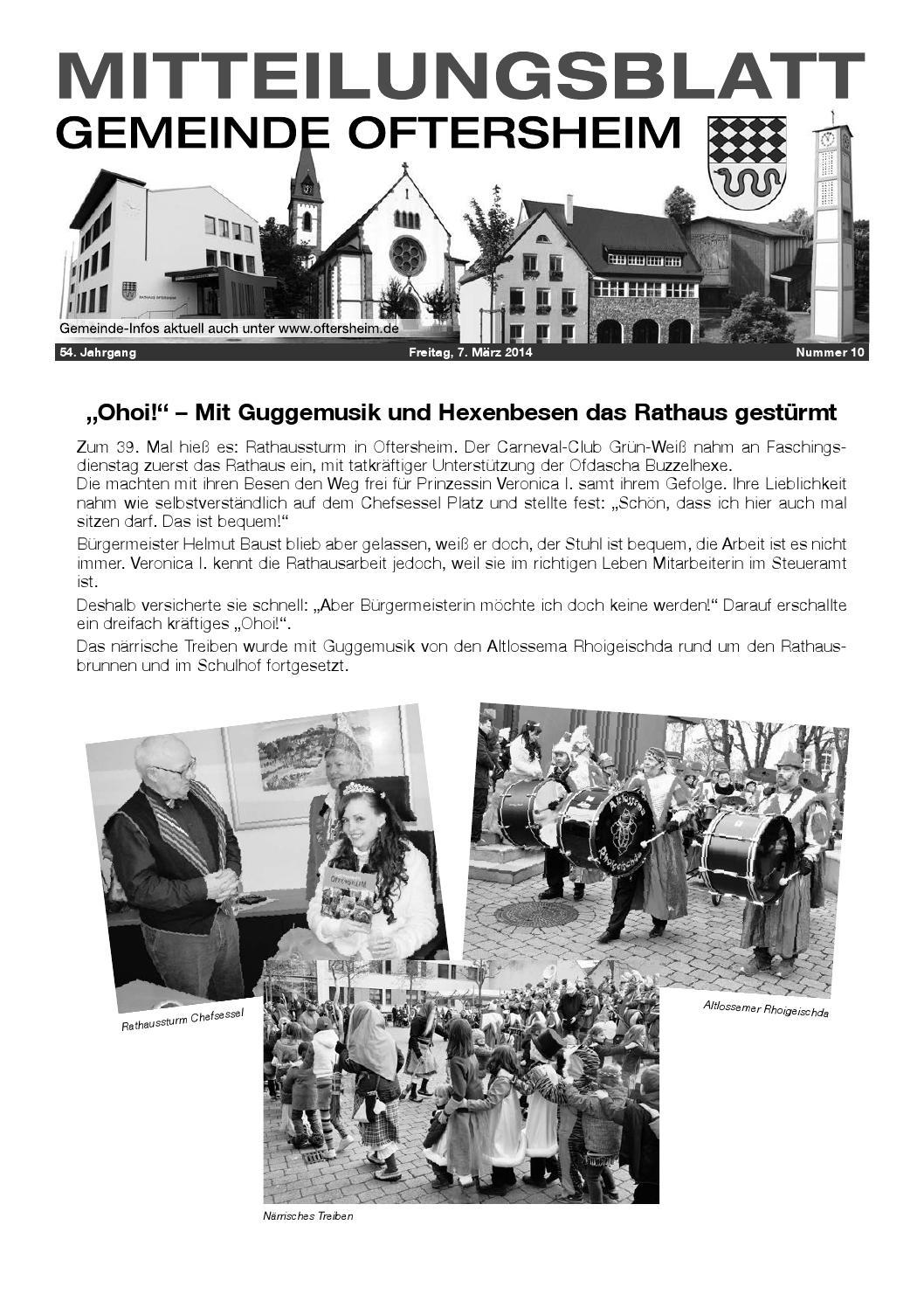 2014-10 Mitteilungsblatt - Gemeinde Oftersheim by Gemeinde ...