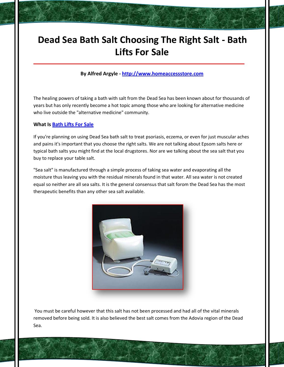 Bath lifts for sale by bathliftsforsale96 - issuu