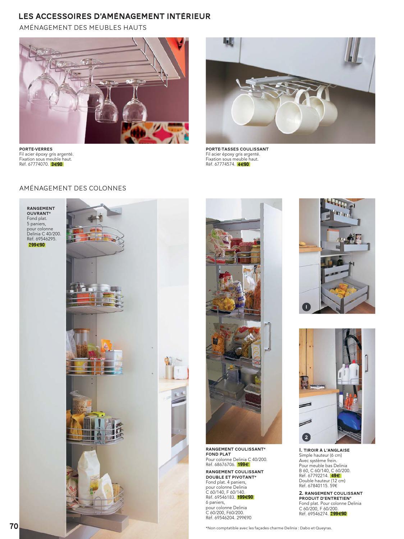Meuble delinia elegant luminaire meuble cuisine dco leroy merlin meuble cuisine bas blanc photo - Range couvert leroy merlin ...