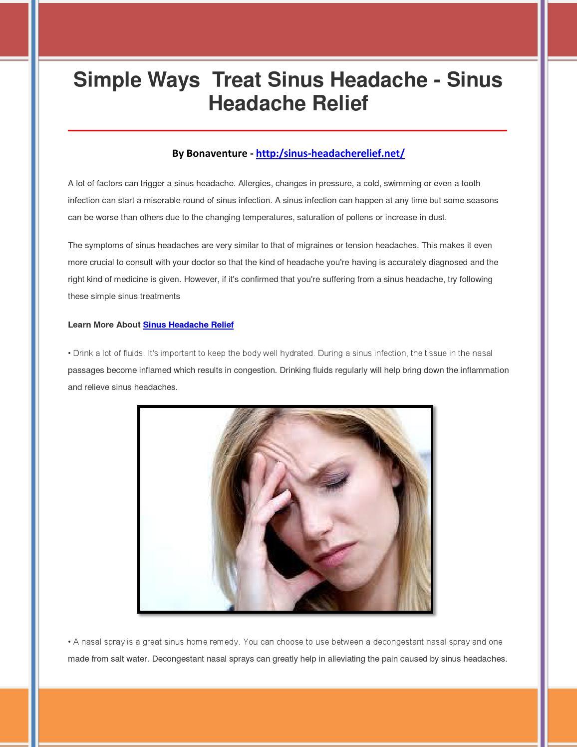 Sinus headache relief by ughbngjbhfbvgdvc - issuu
