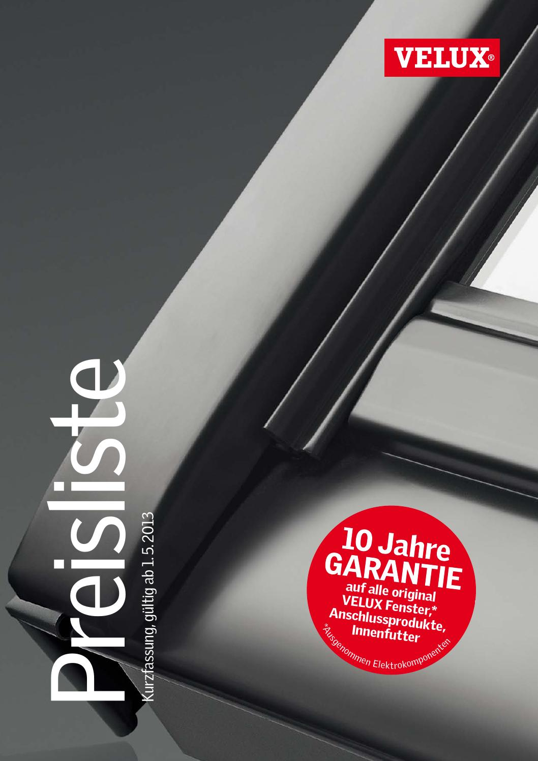 velux preisliste by kaiser design issuu. Black Bedroom Furniture Sets. Home Design Ideas