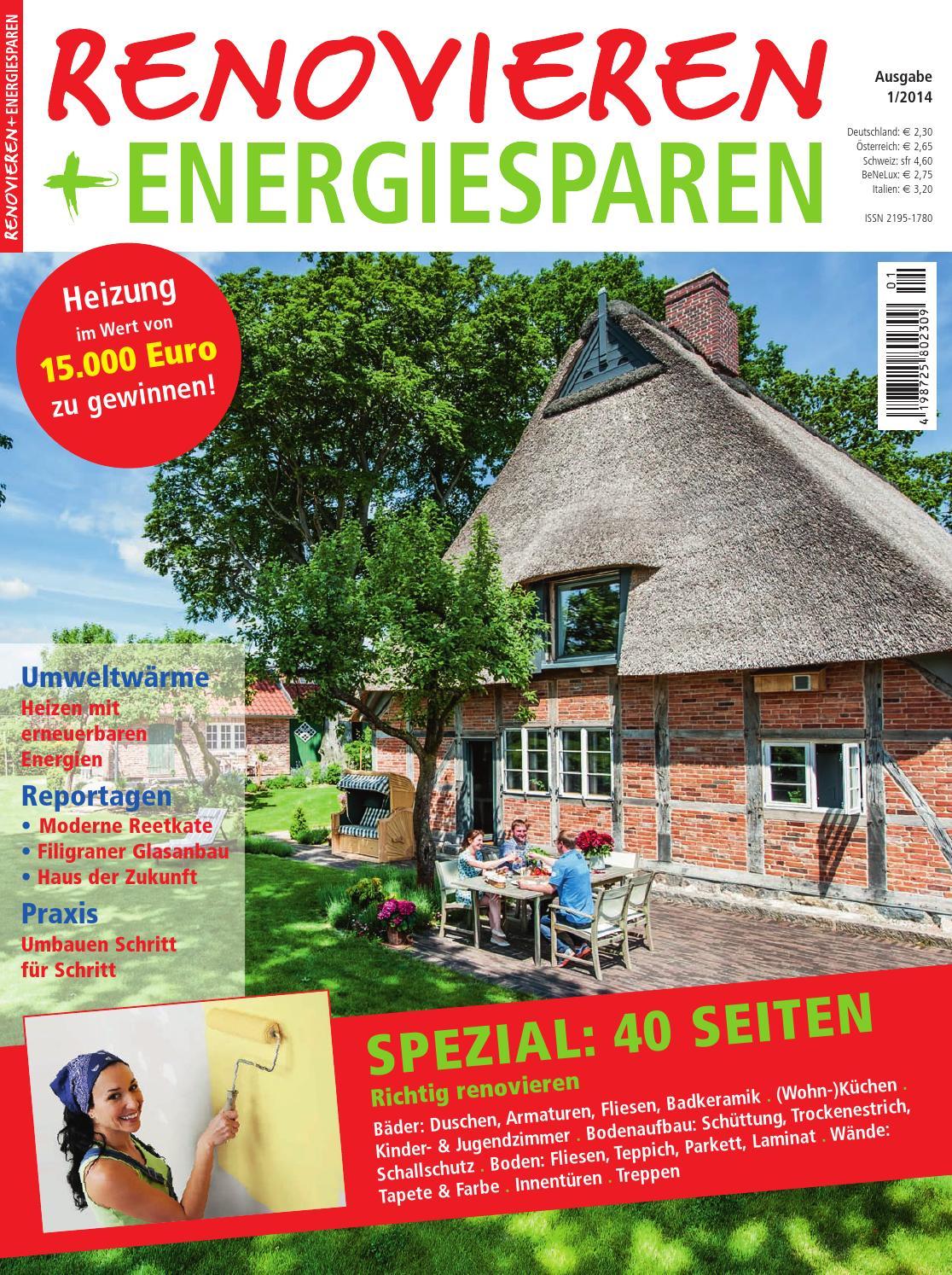 Renovieren & Energiesparen 1 / 2014 by Family Home Verlag GmbH - issuu