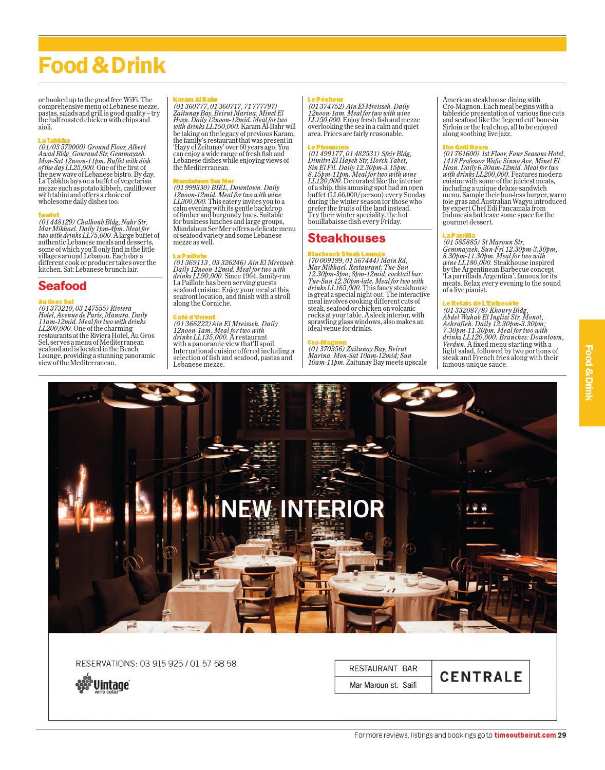 Table Centrale De Cuisine time out beirut-jan 15-31 2014 no. 67: mind, body & soul