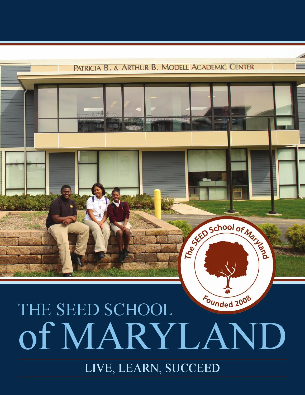 Seed Informational Brochure by The SEED School of Maryland ...