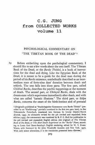 tibetan book of the dead jung