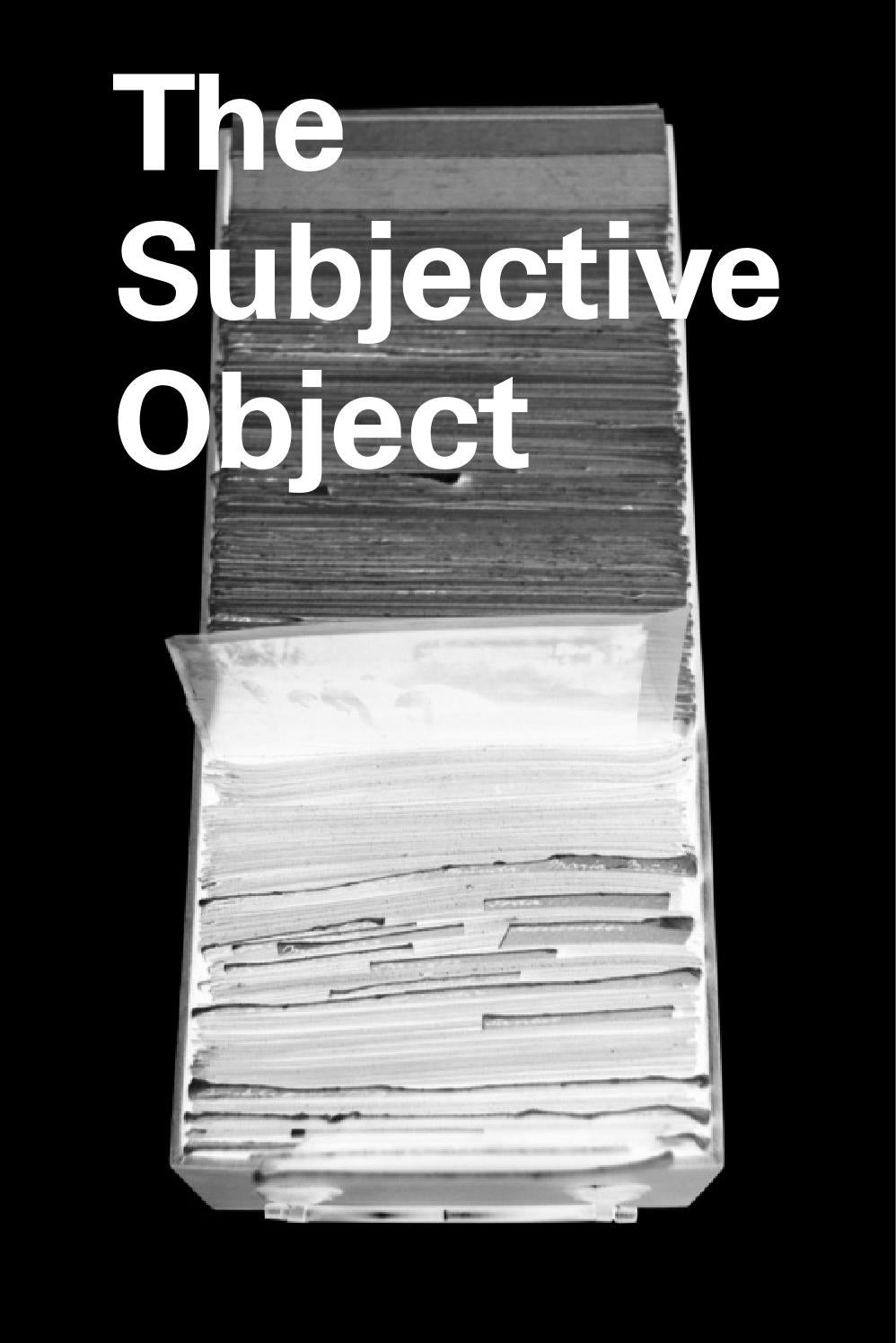 The Subjective Object by K . - issuu