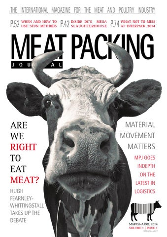 Vol 1iss 1 Meat Packing Journal Marchapril 2014 By Reby Media