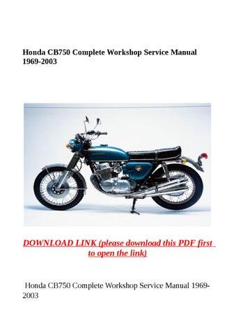 Honda cb750 complete workshop service manual 1969 2003 by yghj issuu honda cb750 complete workshop service manual 1969 2003 publicscrutiny Gallery