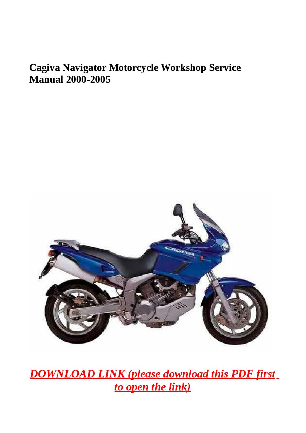 Cagiva navigator motorcycle workshop service manual 2000 2005 by yghj -  issuu