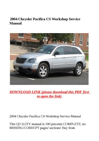 2004 chrysler pacifica cs workshop service manual by yghj issuu rh issuu com chrysler pacifica 2004 service manual pdf 2004 chrysler pacifica manual