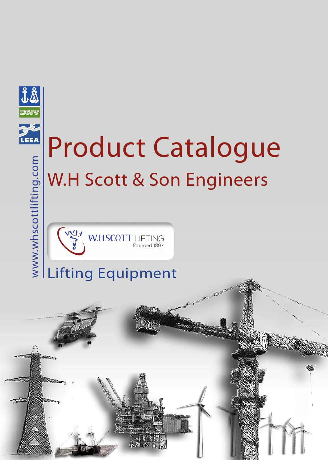 Wh scott product catalouge No 1 by WH Scott & Son Engineers - issuu