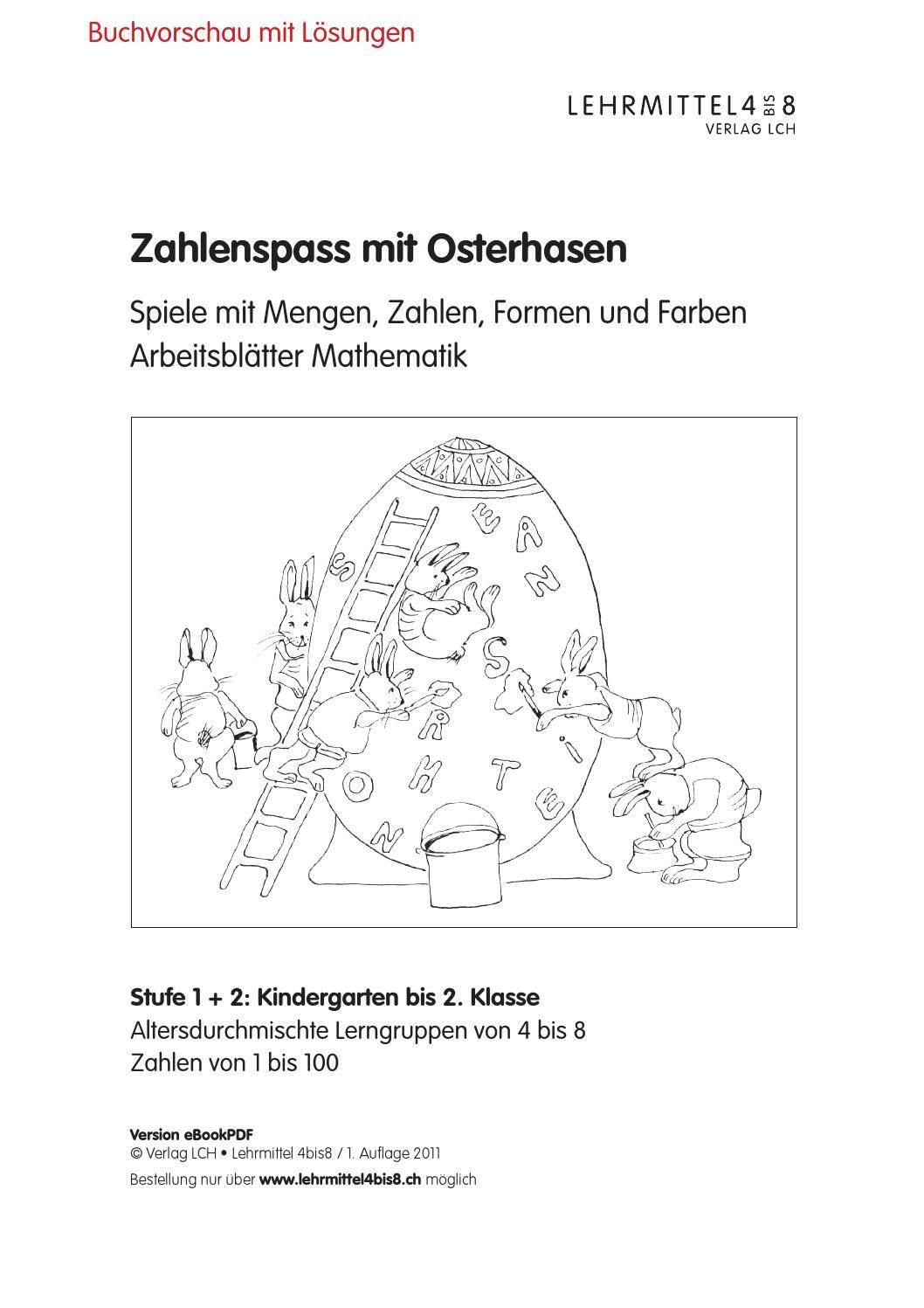 Zahlenspass mit Osterhasen by lehrmittel 4bis8 - issuu