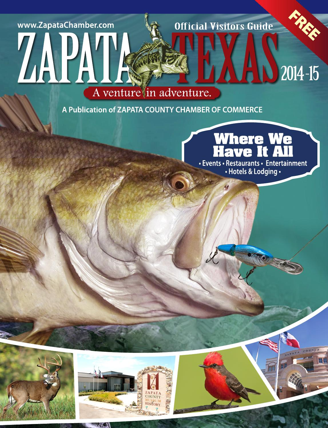 Zapata Official Visitors Guide 2014 2015 By Graphitiks