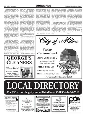 The Cabell Standard, March 6, 2014 by PC Newspapers - issuu
