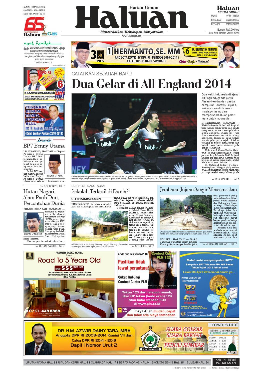 Haluan 10 Maret 2014 By Harian Issuu Sensi Doctor Cap Green Penutup Kepala 50 Pcs Khusus Area Pulau Jawa