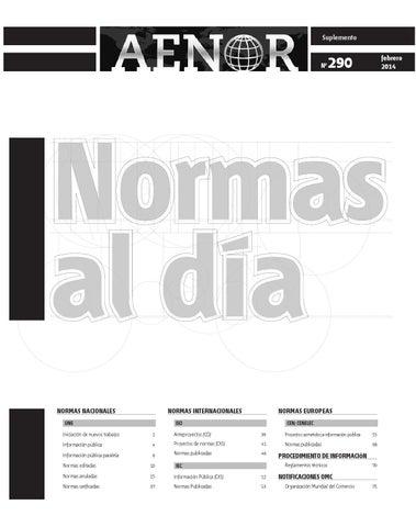 Normas al dia 290 by revista aenor issuu page 1 urtaz Images