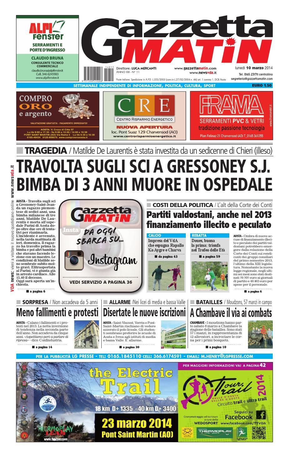 the latest 84d94 268e1 Gazzetta Matin del 10 marzo 2014 by Luca Mercanti - issuu
