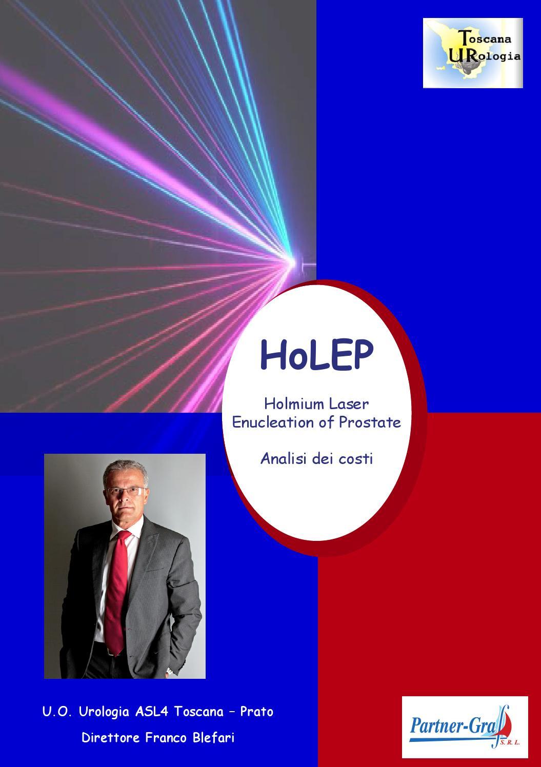 intervento alla prostata con laser holmios