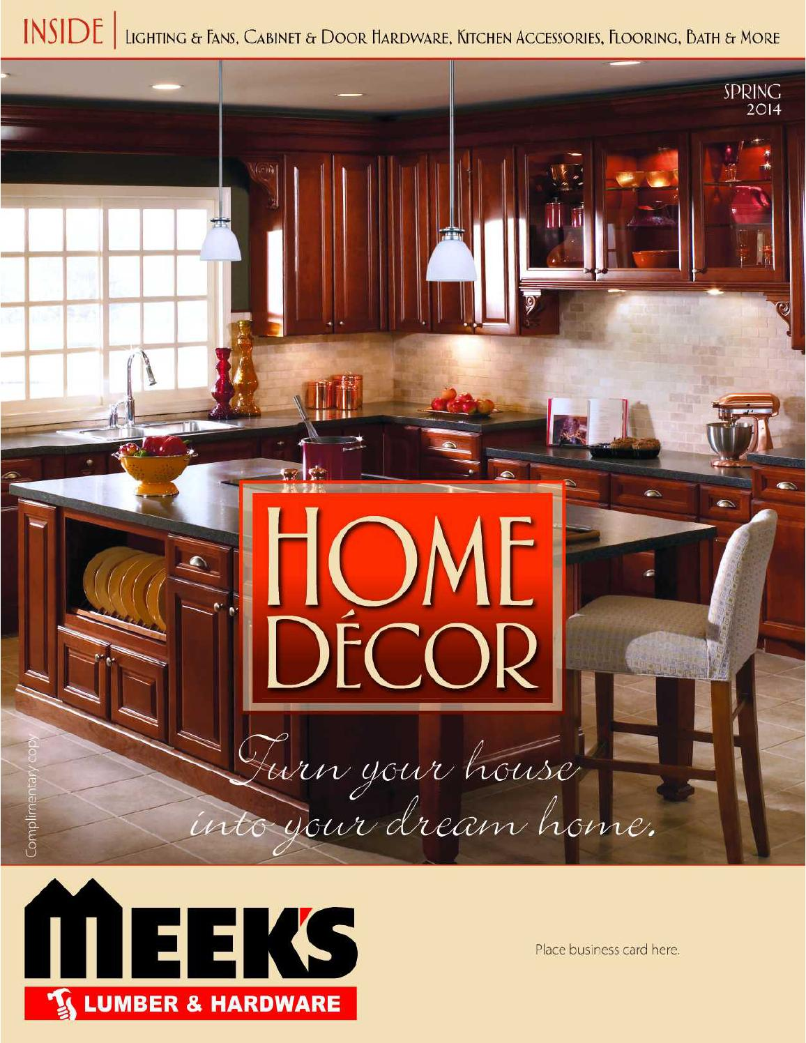 home d 233 cor catalog spring 2014 by meek s lumber home interior decor with red accents home decor catalogs