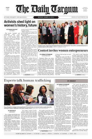 The Daily Targum 2014-03-10 by The Daily Targum - issuu